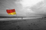 Lifeguard flag, Tenby beach