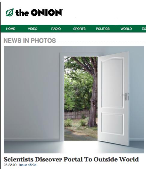 Portal (copyright The Onion)